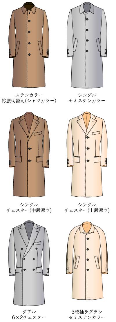 ロングコート モデル一覧